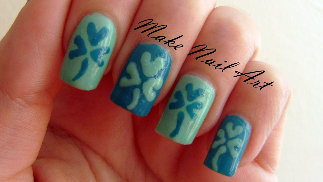 Nail Art Ideas shamrock nail art tutorial : St. Patrick's Day Shamrock Nail Art Tutorial - YouTube