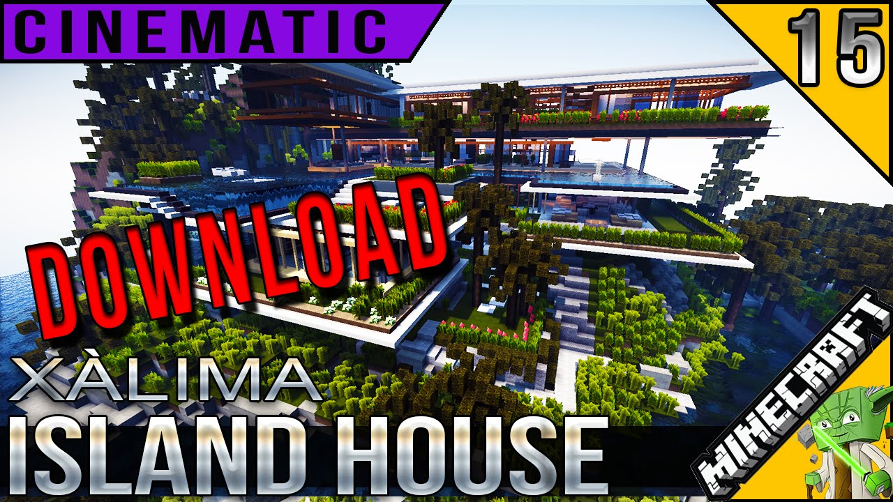 Xalima minecraft cinematic + download of xalima island house designed