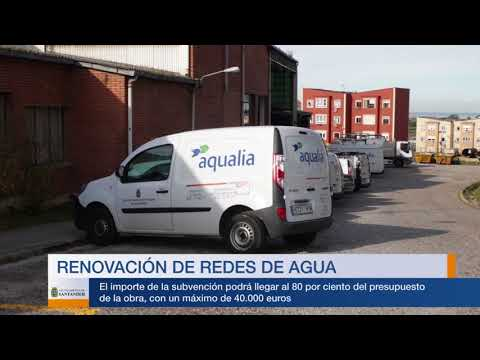 Subvenciones municipales mejora redes de agua