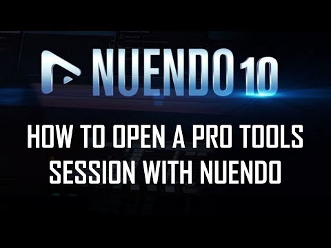How to Open a Pro Tools Session With Nuendo 10 with AAF Files & Best Stock Plugins