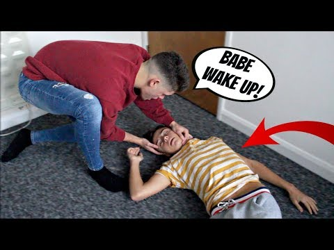 PASSED OUT PRANK ON MY BOYFRIEND (Cute Reaction)