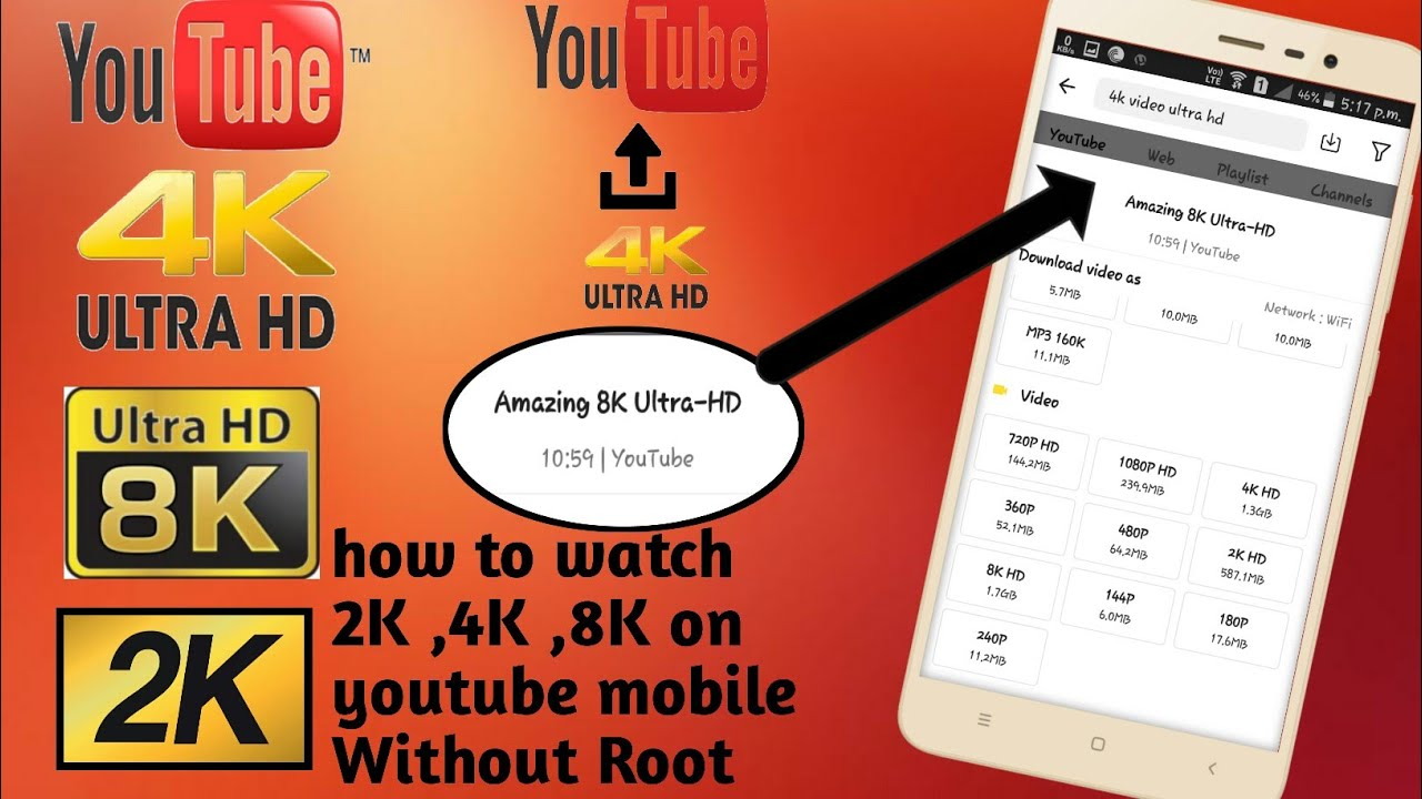 How to enable 4k on youtube app    without root    Cvedi Tech   
