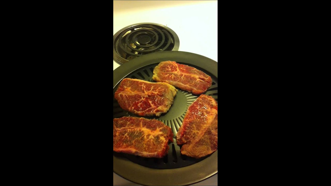 Indoor Smokeless Stove Top Grill by Rimini Brands - YouTube