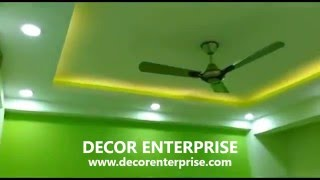 simple four site suspend ceiling | false ceiling try light ceiling design.