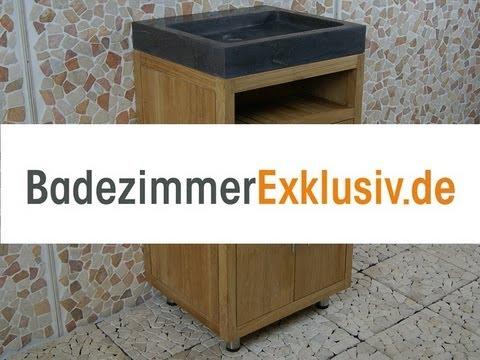 Badezimmermöbel aus Teakholz und Waschbecken. Konkurrierende Preisen ...
