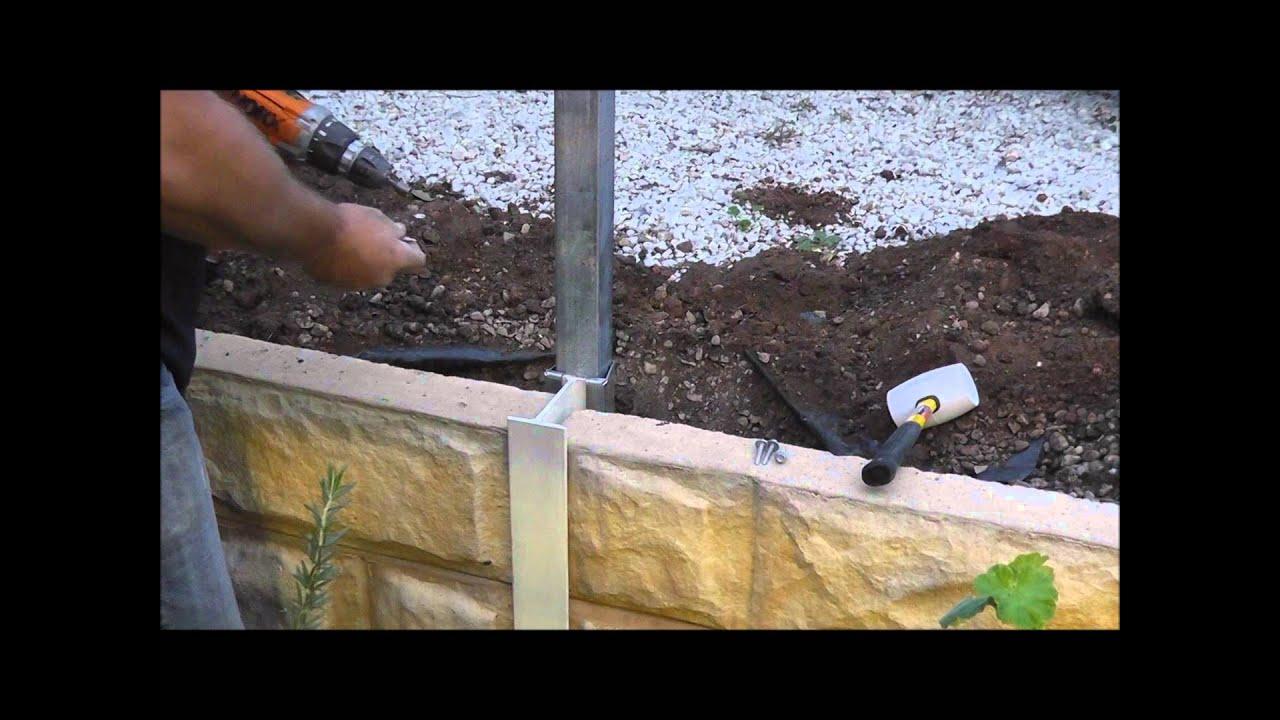 Demonstration Video For Installing The Postpocket Fence