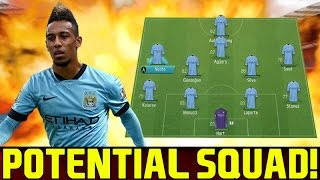 MANCHESTER CITY POTENTIAL SQUAD 2016/2017