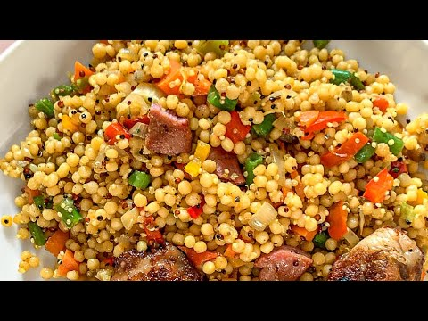 How To Make Pearl Couscous And Quinoa    How To Make Couscous    Easy Lockdown Recipe