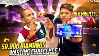 Anurag Saitama Wasting 50,000 Diamond From My Account 6min Challenge [ Takala Reveal ] Free Fire