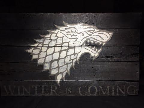 Game of Thrones Stark Sigil - Pallet Wood