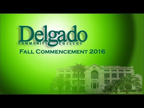 Delgado Community College Fall 2016 Commencement