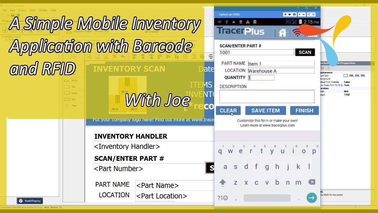 Bam!!! - A Simple Mobile Inventory Application with Barcode and RFID - Just  Like Emeril