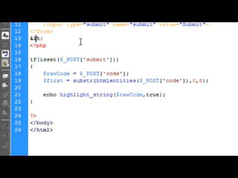 PHP: Syntax Highlighting For PHP Code