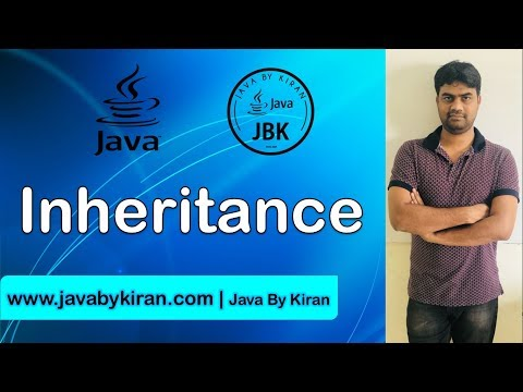 Inheritance Part 1-By Kiran Sir-JAVA By Kiran,Pune