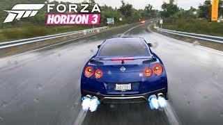 Forza Horizon 3 | 2017 Nissan GT-R Rain Gameplay [1440p60]