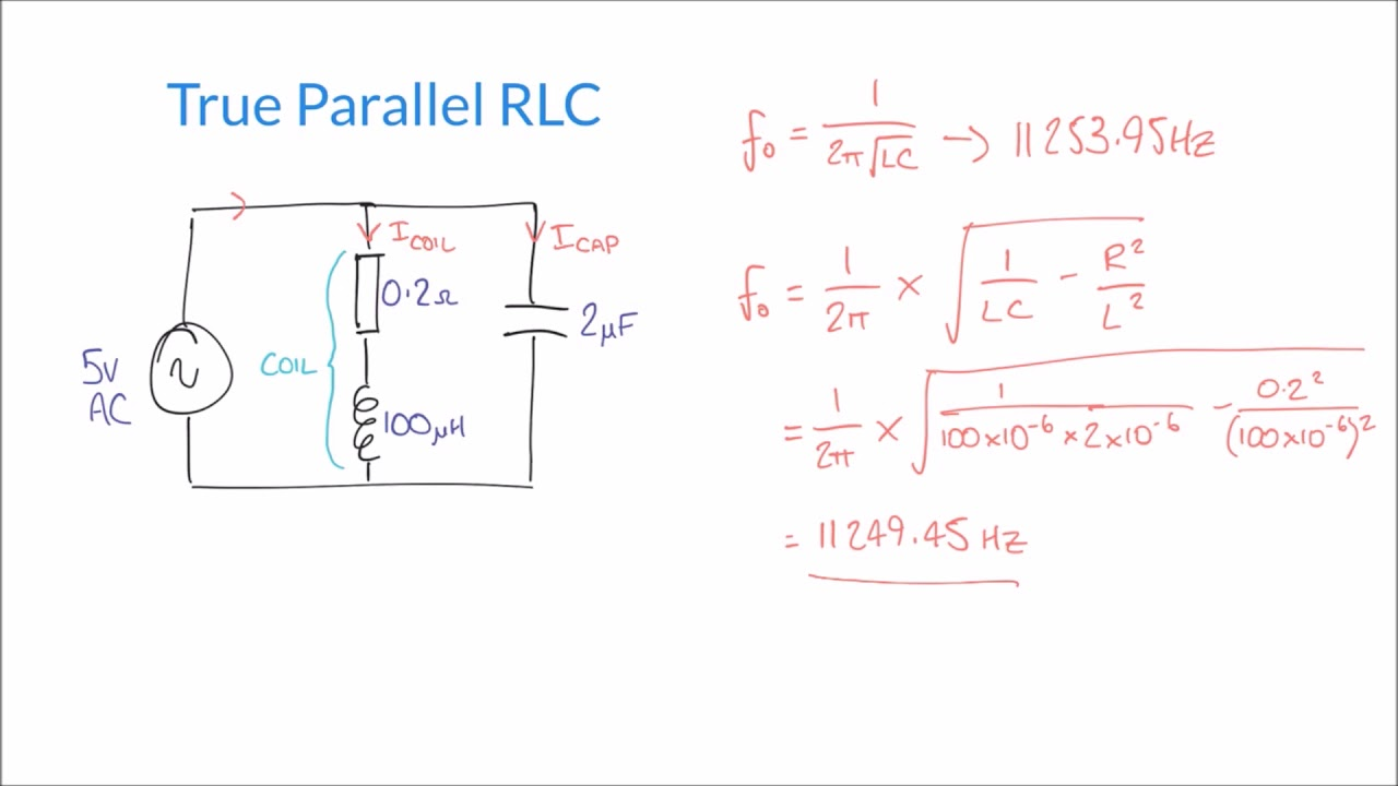 Resonance and Q Factor in True Parallel RLC Circuits