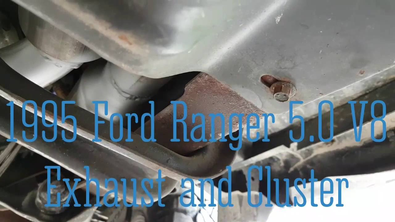 small resolution of part 2 1995 ford ranger 5 0 v8 custom exhaust and sport trac instrument cluster swap