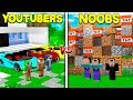 YOUTUBER HOUSE VS. NOOB HOUSE in MINECRAFT!
