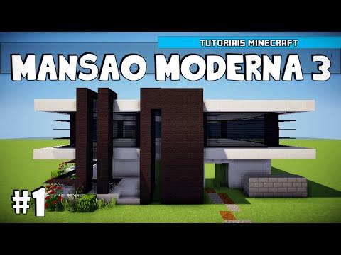 Minecraft como construir uma mans o moderna 3 parte 1 for Casa moderna minecraft 0 12 1