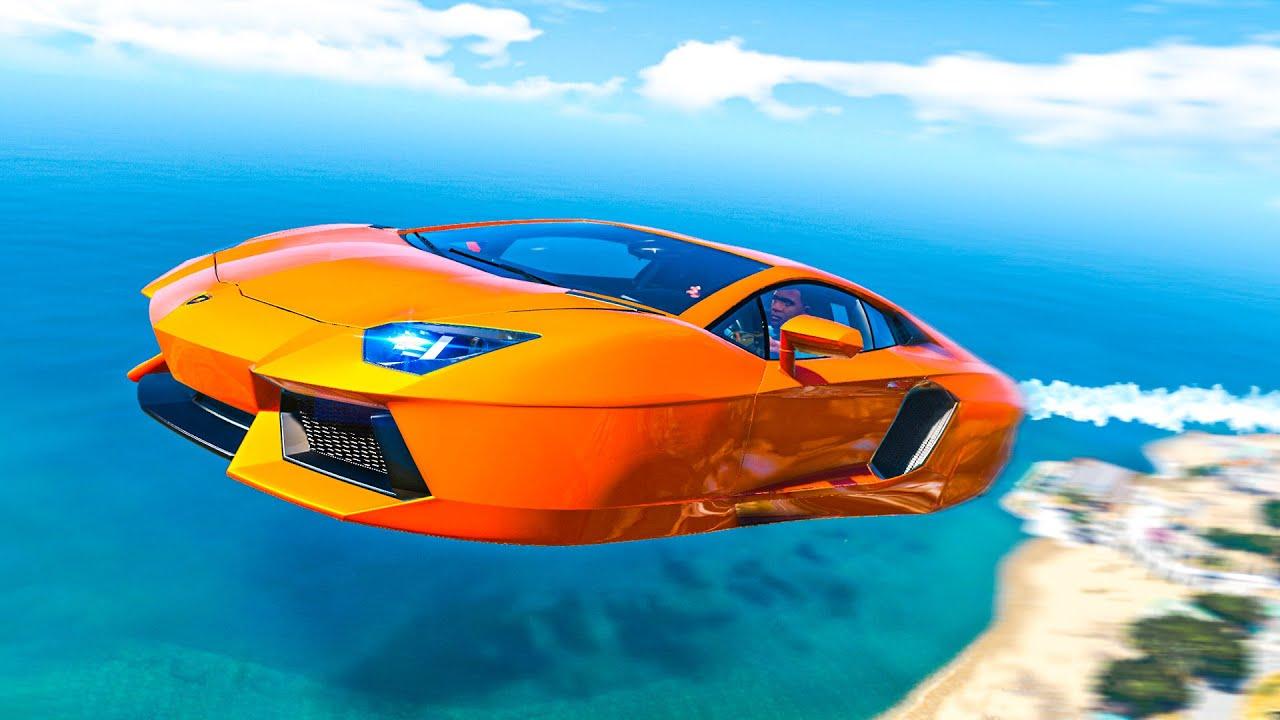 I Got A FLYING LAMBORGHINI In GTA 5! (Mods)