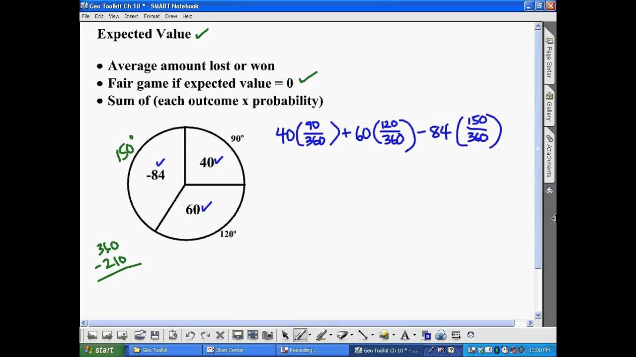 Expected Value YouTube – Expected Value Worksheet