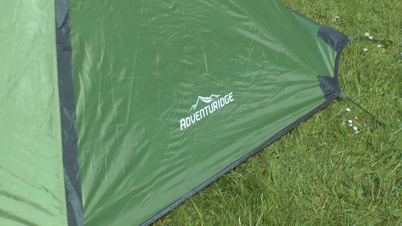 £20 Aldi One Man Hiking Tent is A Winner in the Rain & 20 Aldi One Man Hiking Tent is A Winner in the Rain - YouTube