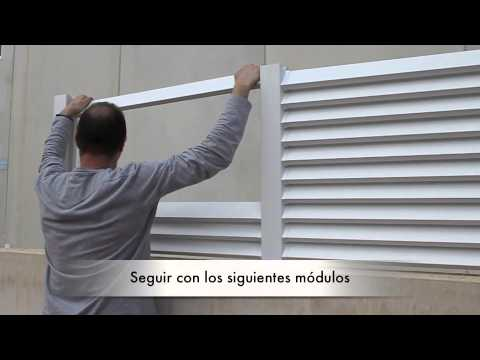 Dlimity montaje valla modelo cerbero youtube for Vallas de pvc para jardin
