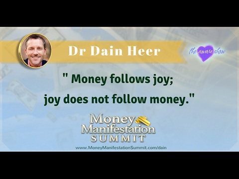 Dr Dain Heer on the Money Manifestation Summit with Lisa Garr on The Aware Show