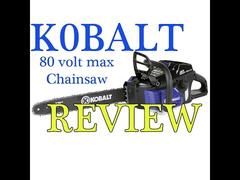 Kobalt 80-Volt Lithium Ion (Li-ion) 18-in Brushless Cordless Electric Chainsaw review (long)