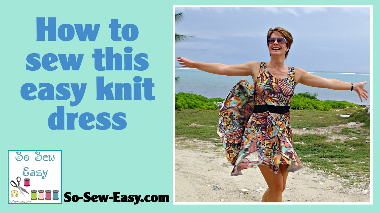 How to sew this Graffiti dress - free pattern - YouTube