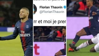 PSG 4-1 Rennes: Thauvin trolle l'arbitre, polémique faute niang sur kehrer, but cavani, but mbappe