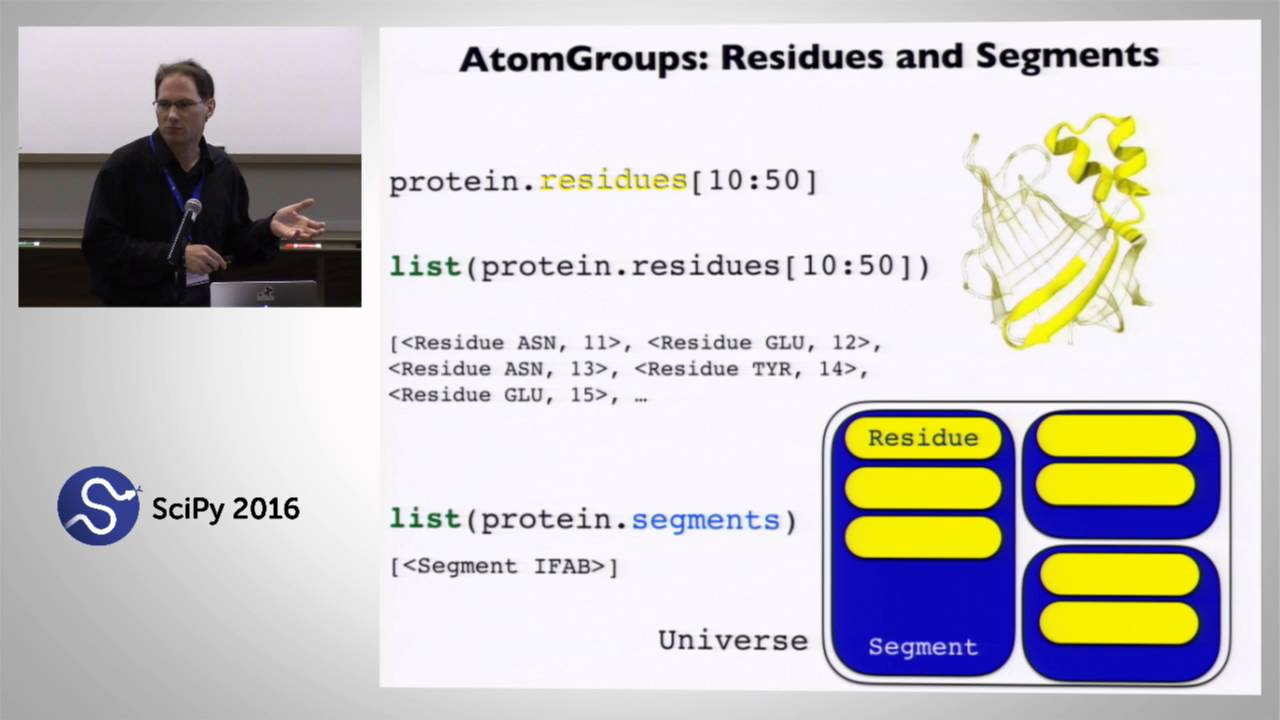 MDAnalysis: A Python Package for the Rapid Analysis of Molecular Dynamics  Simulations | SciPy 2016