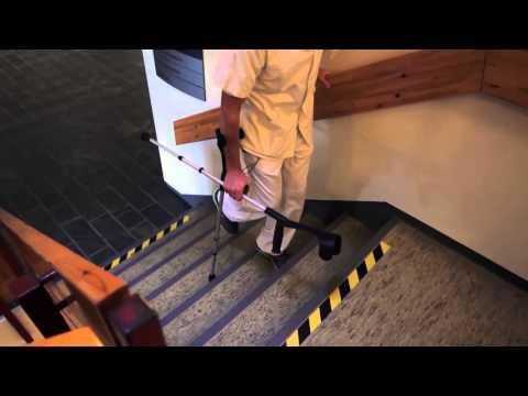 Gå med krykker, instruktionsfilm fra Bornholms Hospital