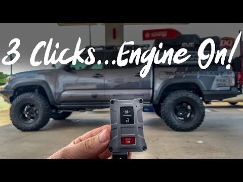 How To Turn On Toyota Tacoma With Your Key Fob & Phone | Plug & Play Installation | Remote Start Kit