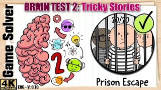 𝐁𝐑𝐀𝐈𝐍 𝐓𝐄𝐒𝐓 𝟐: Tricky Stories || PRISON ESCAPE | All levels 1-20 Walkthrough [ENG]
