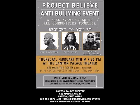 Project Believe Anti Bulling Event at Canton Palace Theatre