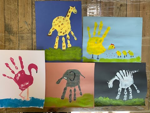 Zoo  Animal Hand Painting Ideas For Kids (Step By Step )