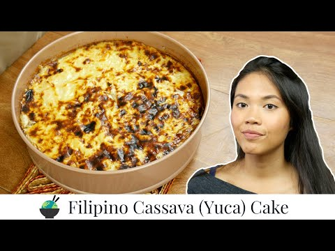 Cassava Cake Recipe | How To Make Filipino Cassava Cake | Filipino Desserts