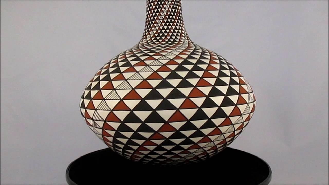 'Swirl Pot' by Robert Kasero, Sr  - Laguna Pueblo Pottery