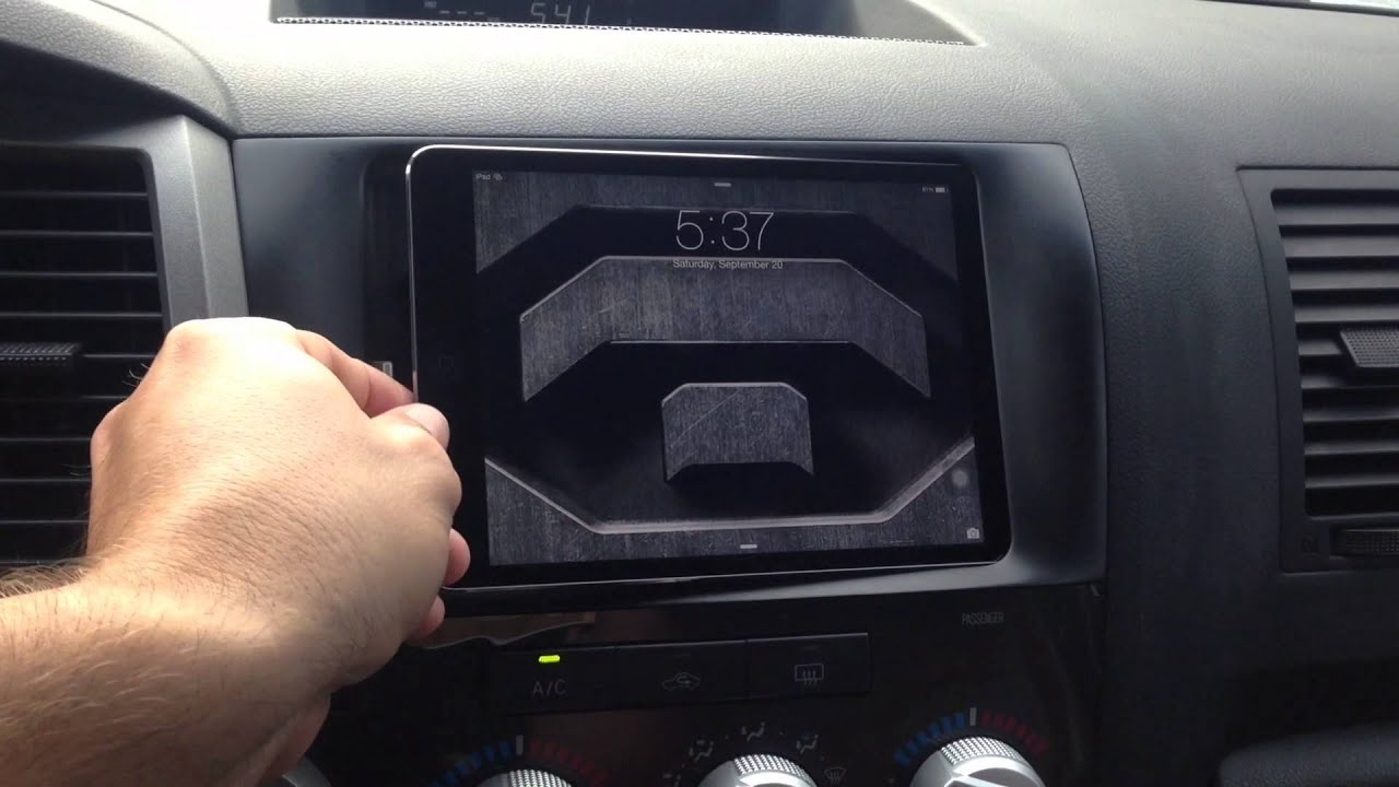Ipad Mini Retina Installed In Dash Of 2010 Toyota Tundra