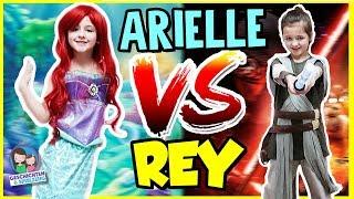DISNEY Arielle vs. STAR WARS Rey - Wer gewinnt? Karneval Spezial von Geschichten und Spielzeug