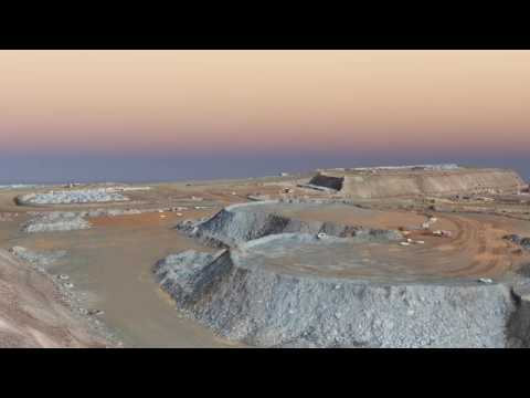 Mine stockpile survey using drone