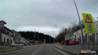 Grenzübergang D-CZ bei Philippsreut B12. Februar 2017. Border Crossing Germany to Czech Republic