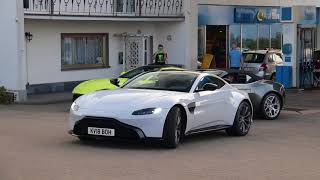 Aston Martin supercars trio brandnew Vantage and DB11 Volante [Lovely Sounds]