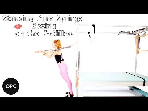 Standing Arm Springs Boxing On The Cadillac | Online Pilates Classes