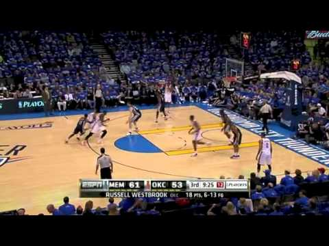 Grizzlies vs. Thunder - Game 1 Western Conference Semi-Finals 2011 NBA Playoffs (01-05-2011)