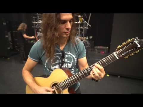 Trying my new acoustic guitar in Tokyo with Megadeth