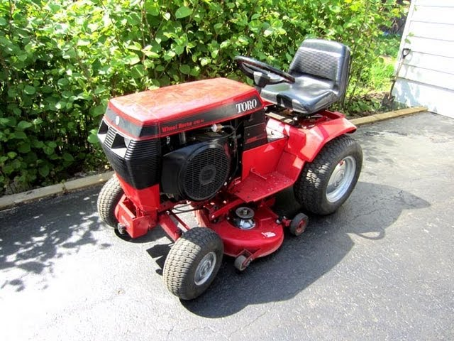 toro wheel horse 416h lawn tractor start up  youtube