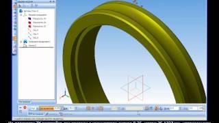 Построение 3D модели венца червячного колеса в Компас 3D