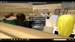 Roblox Dunkin donuts interviews center | How to pass!